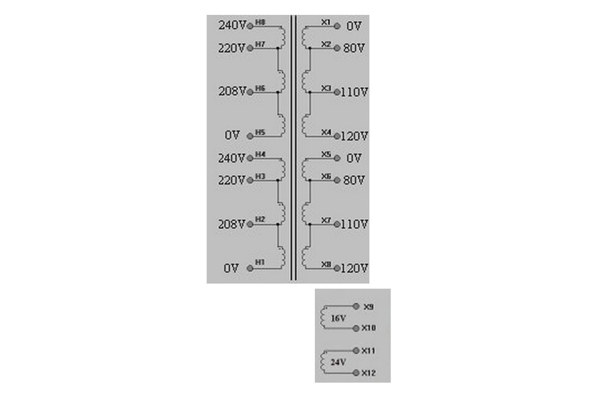 MCI 4-54 Series  Polarity Schematic